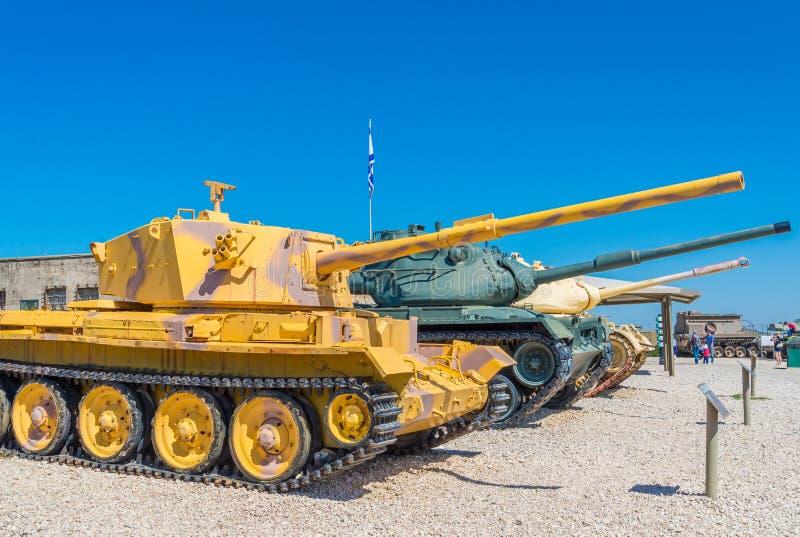 Tanques no museu fotografia de stock