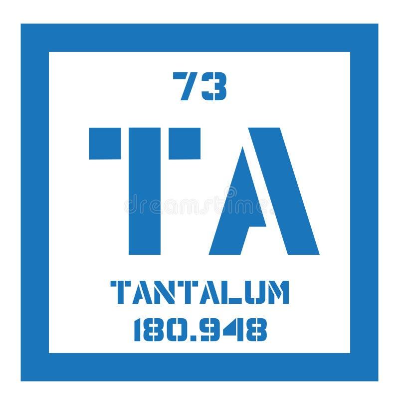 Tantalium chemisch element vector illustratie