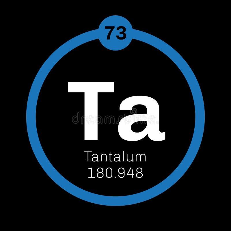 Tantalium chemisch element stock illustratie