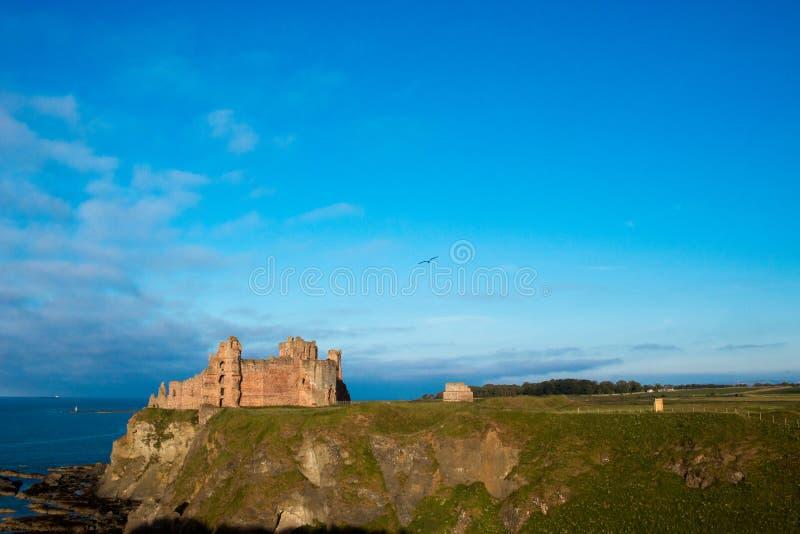 Tantallon城堡苏格兰欧洲 库存图片