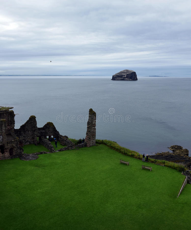Tantallon Castle and Bass Rock royalty free stock photography