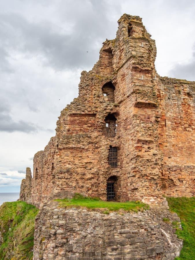 Tantallon Castle, mid-14th-century Scottish castle, North Berwick. Ruins of tantallon Castle, mid-14th-century Scottish castle, North Berwick. Historic royalty free stock image