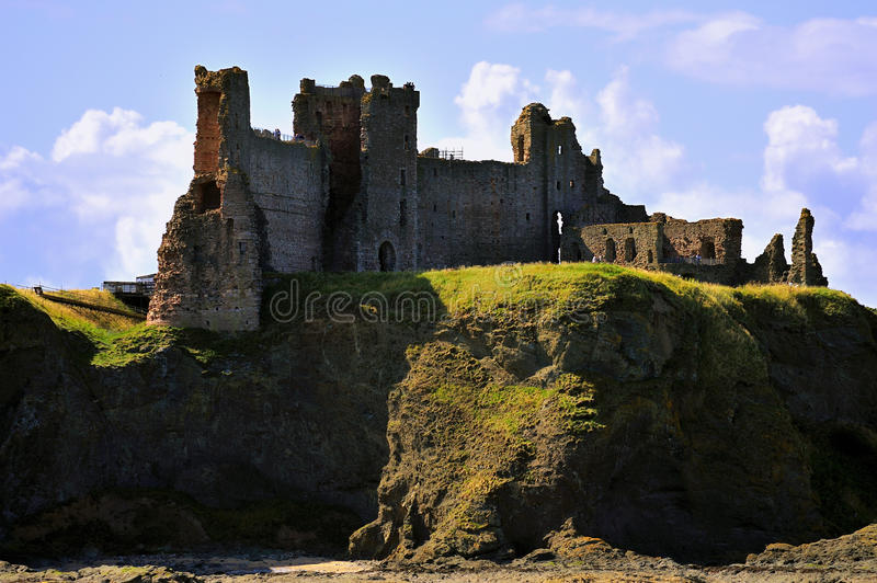 Tantallon castle, Scotland. The clifftop ruin of Tantallon castle, overlooking the Firth of Forth and the Bass rock. This was the seat of the Douglas earls of royalty free stock image