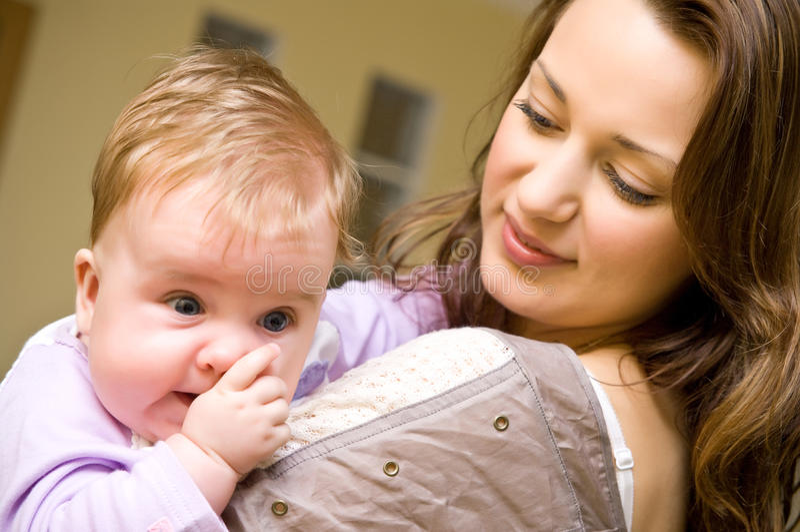 Tante avec le bébé image libre de droits