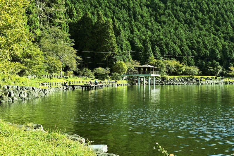 Tanuki Lake. Tanuki is a lake near Mount Fuji, Japan. Located in Fujinomiya, Shizuoka Prefecture, and is part of the Park National Fuji-Hakone-Izu. Originally a stock images