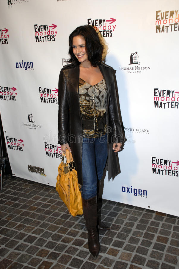 Tanya Memme on the red carpet. Tanya Memme appearing on the red carpet on March 2008 stock photo