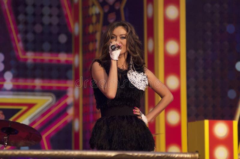 Tanya Tereshina śpiewa piosenkę zdjęcie stock