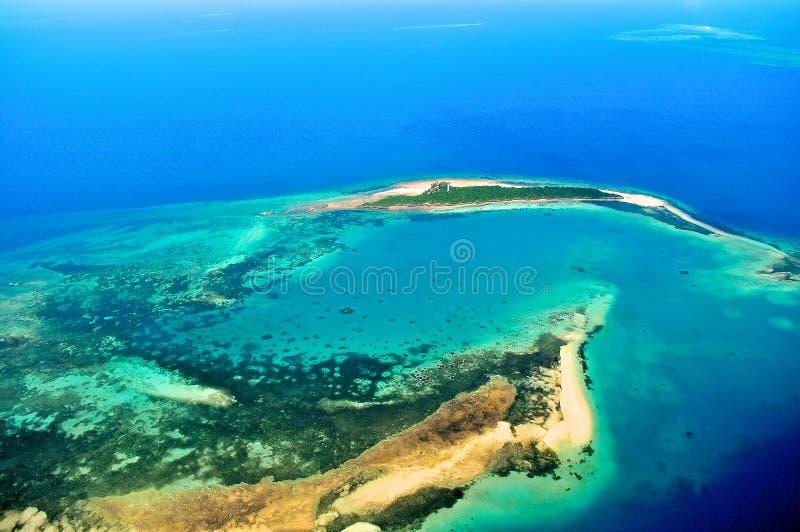 Tanzânia aérea imagem de stock royalty free