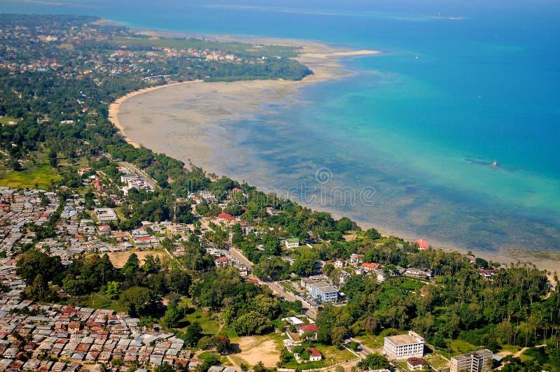 Tanzânia aérea imagens de stock