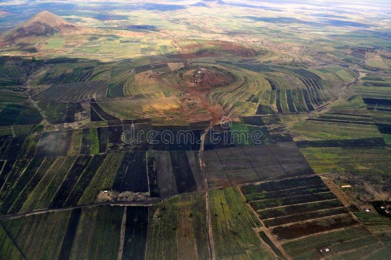 Tanzânia aérea fotos de stock