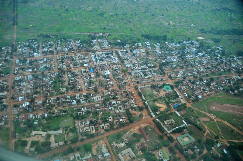 Tanzânia aérea fotografia de stock royalty free