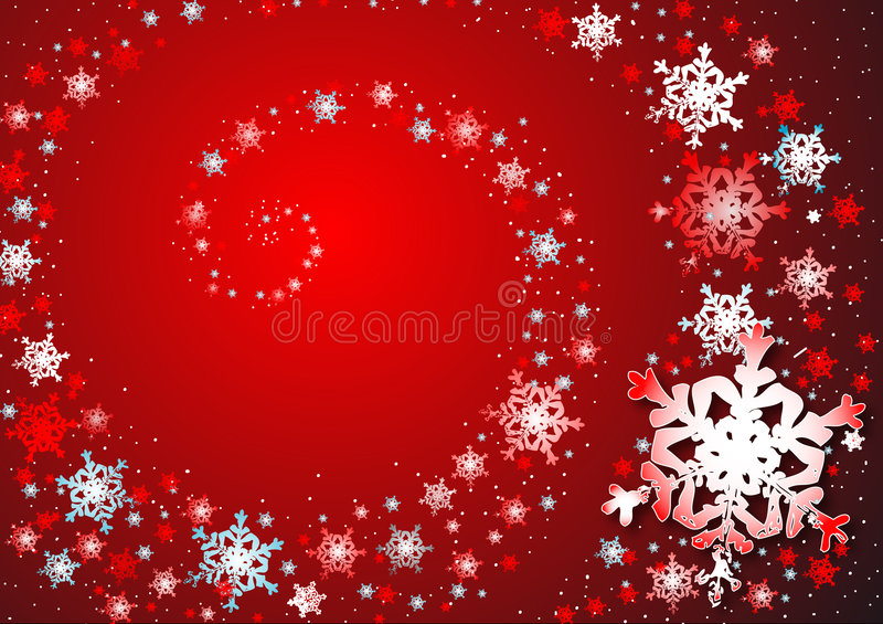 Tanz der Schneeflocken lizenzfreie abbildung