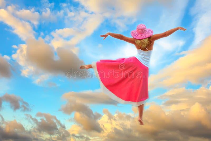 Tanz im Himmel lizenzfreies stockbild