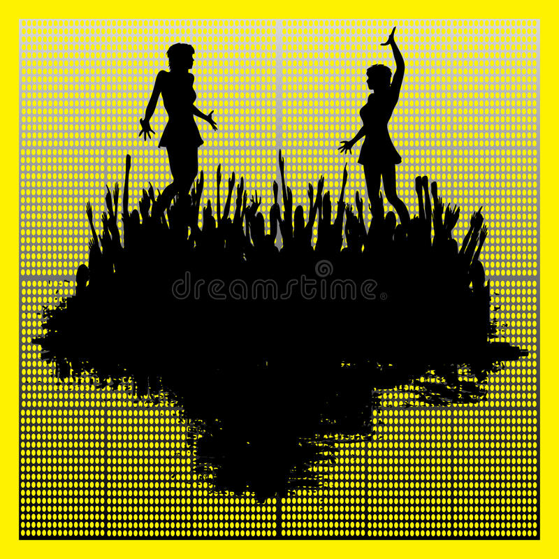 Tanz-Klumpen-Hintergrund stock abbildung