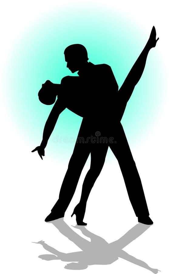 Tanz-Paare lizenzfreie abbildung