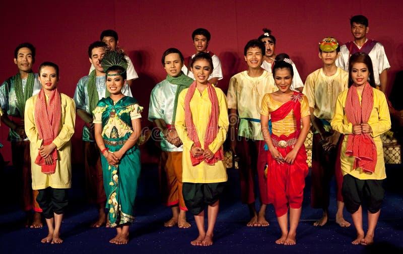 Tanz-Show, Kambodscha lizenzfreie stockbilder