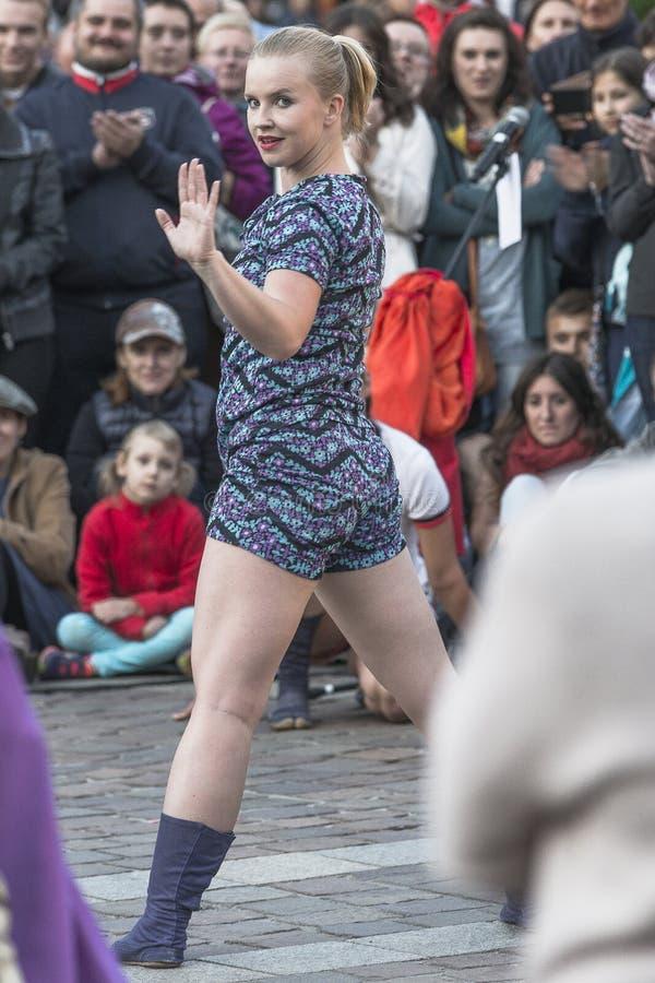Tanz-Theater des Straßen-Theater-DF lizenzfreies stockfoto