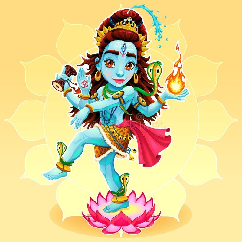 Tanz von Shiva lizenzfreie abbildung