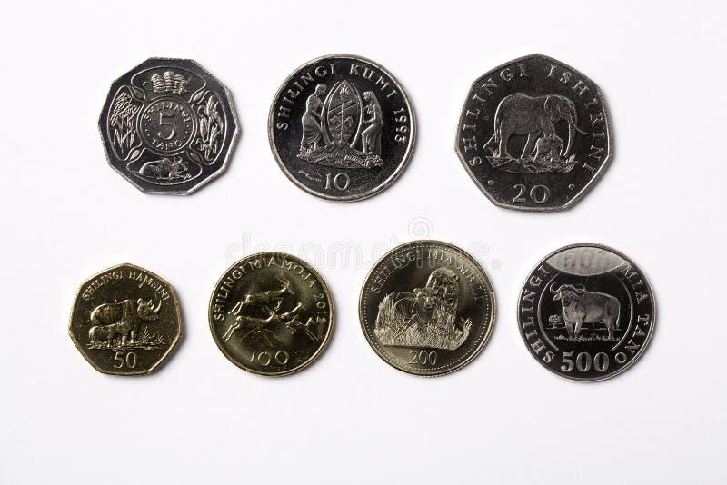 Tanzańczyk monety na białym tle