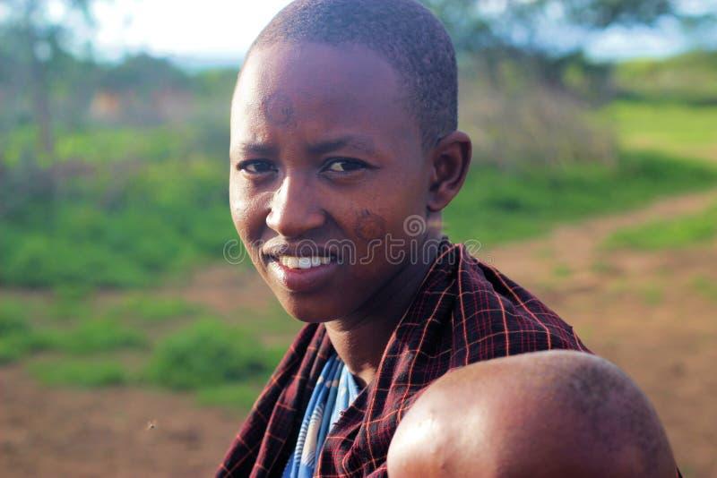 Tanzańska chłopiec obraz royalty free