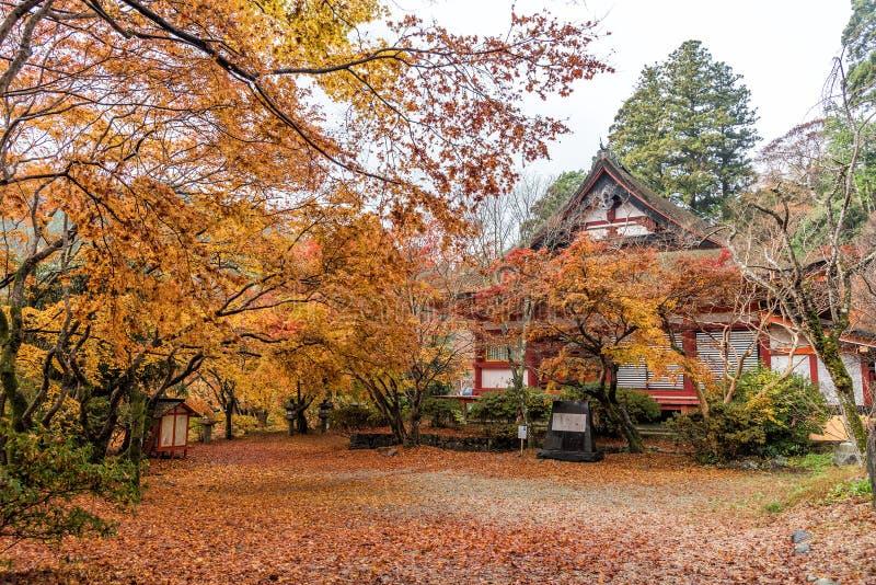 Tanzan-Schrein im Herbst, Nara Prefecture, Japan lizenzfreies stockbild
