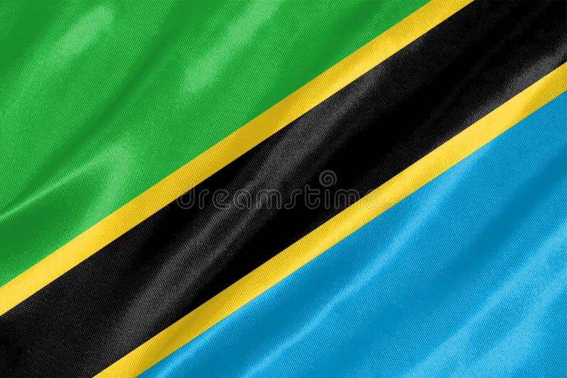 Tanzania flagga arkivfoto