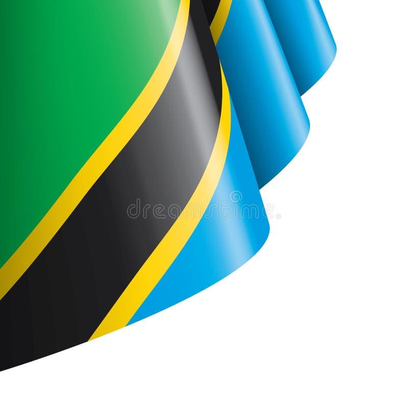 Tanzania flagga, vektorillustration på en vit bakgrund vektor illustrationer