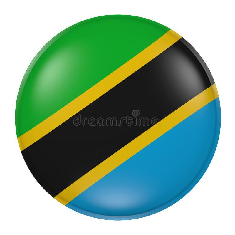 Tanzania knapp på vit bakgrund stock illustrationer