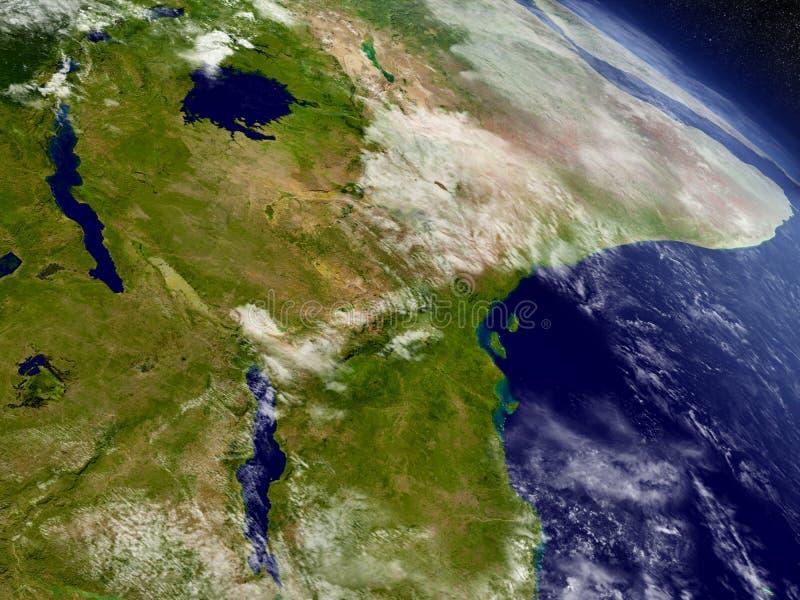 Tanzania od przestrzeni ilustracji