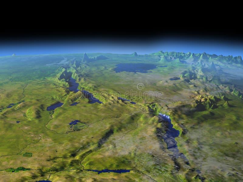 Tanzania region od przestrzeni ilustracji