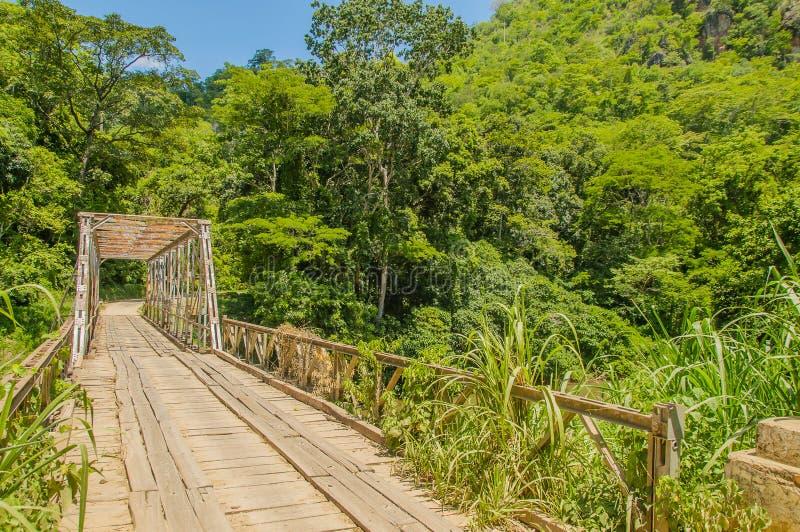 Tanzania - Selous Game Reserve. Old metal bridge on the way to Selous Game Reserve in Southern Tanzania stock photos