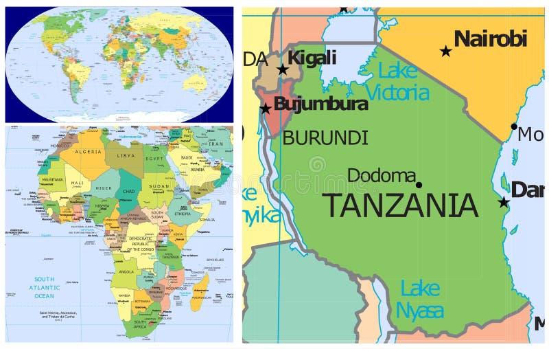 Tanzania World stock illustration Illustration of country 83438170