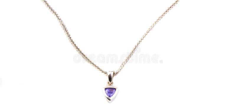 tanzanite ожерелья стоковые фотографии rf