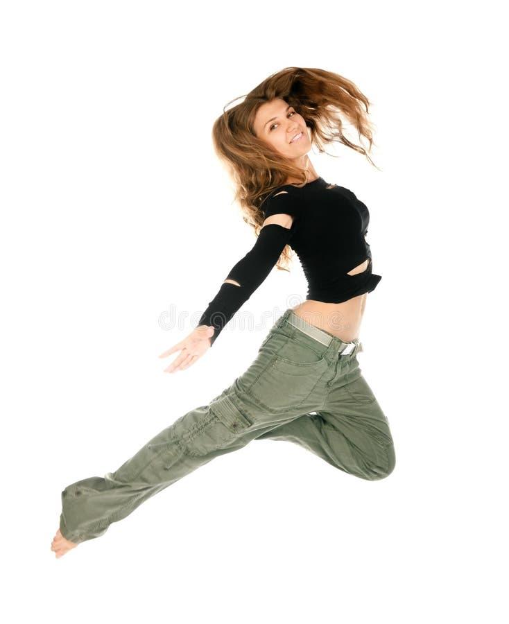 Tanzen der jungen Frau stockfotografie