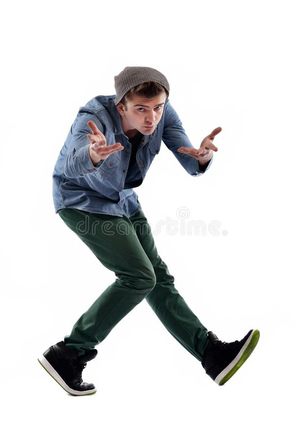 Tanzen des jungen Mannes lizenzfreie stockbilder