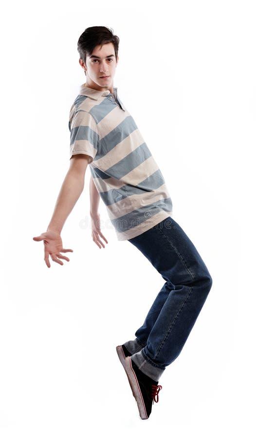 Tanzen des jungen Mannes stockfoto