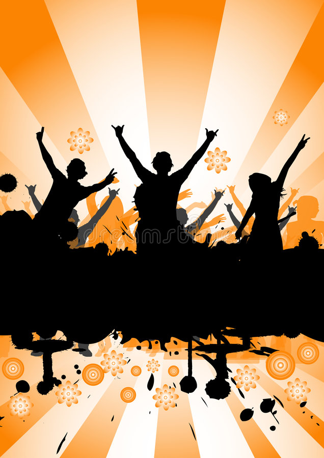 Tanzen an einer Party lizenzfreie abbildung