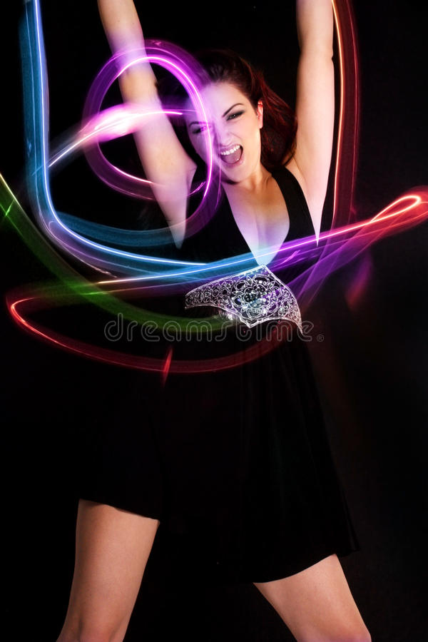 Tanzen-Frau lizenzfreie stockfotos