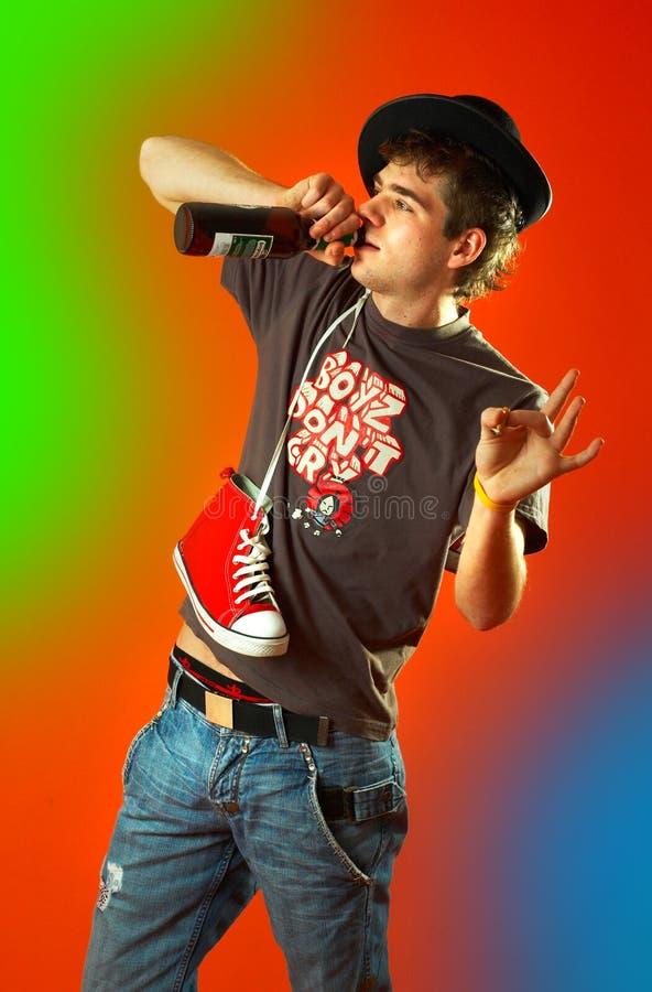 Tanzen getrunken lizenzfreies stockfoto