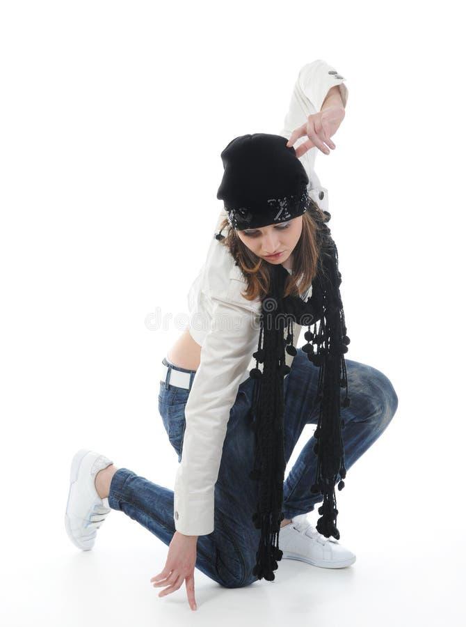 Tanzen Hip-hop der jungen Frau lizenzfreies stockbild