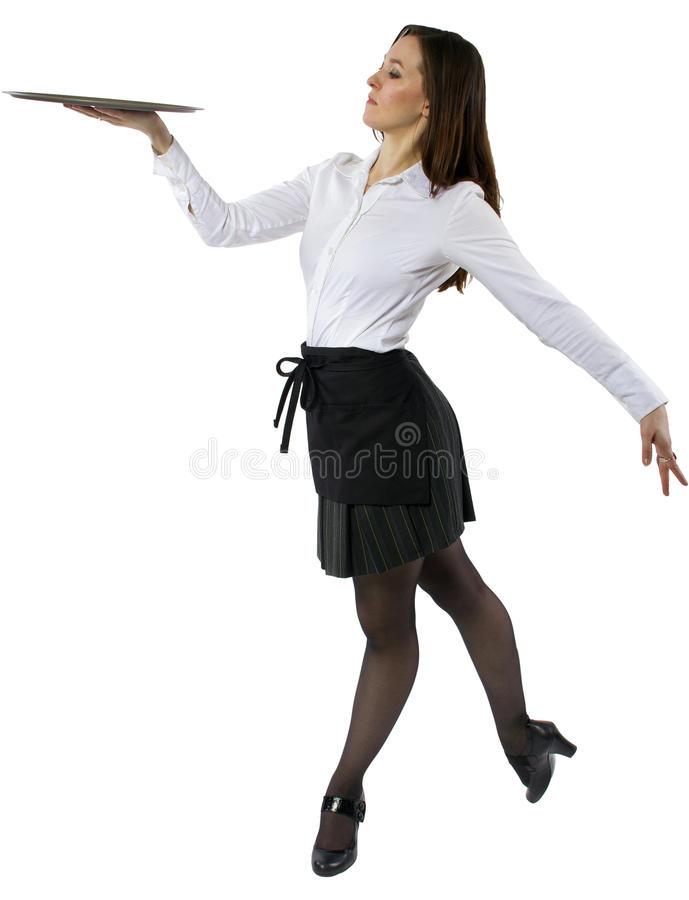 Tanzen-Kellnerin lizenzfreies stockfoto