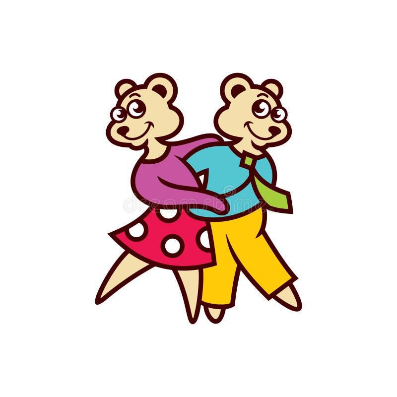 Tanzen mit zwei Bären stock abbildung