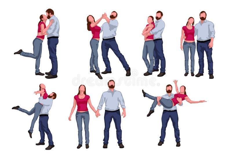 Tanzen paeople Satz lizenzfreie abbildung