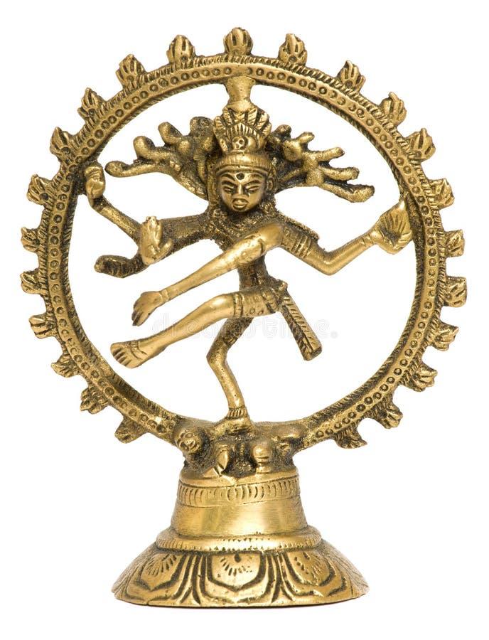 Tanzen Shiva auf weißem Hintergrund lizenzfreie stockfotografie