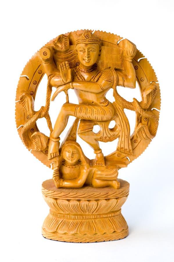 Tanzen Shiva. Hölzerne Statue lizenzfreie stockbilder