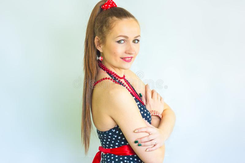 Tanzen Sie Mädchen Attraktives Frauen-Lächeln lizenzfreies stockbild