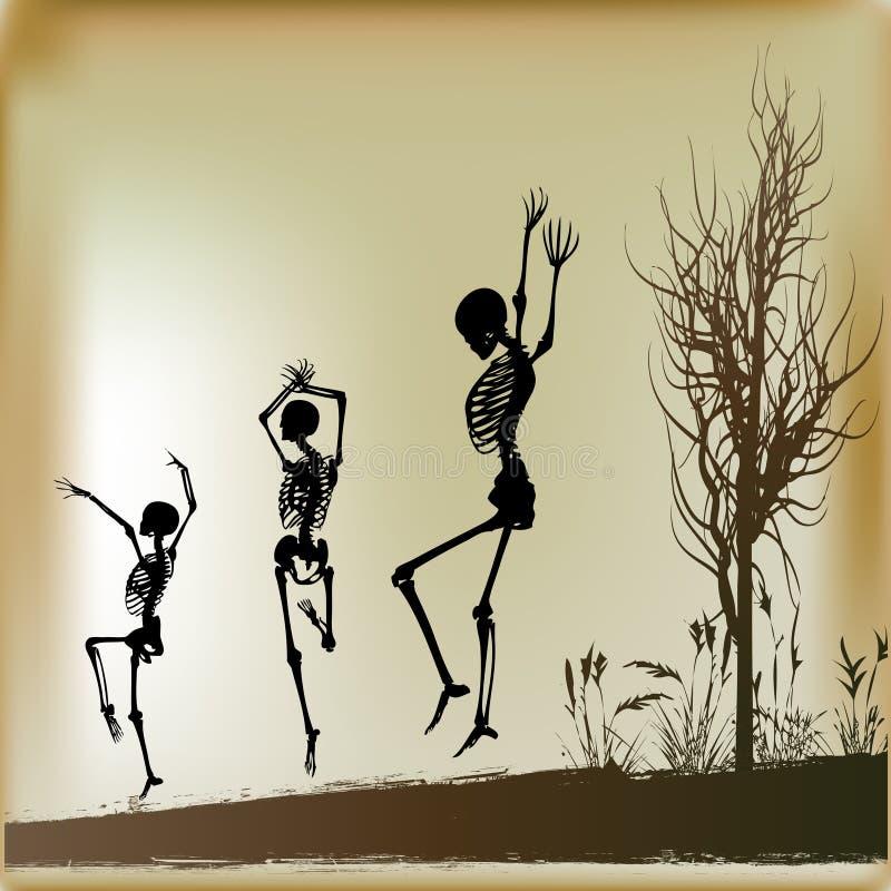 Tanzen-Skelette lizenzfreie abbildung