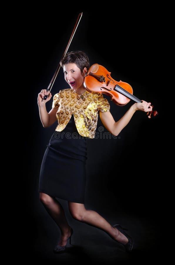 Tanzen-Violinist lizenzfreies stockfoto