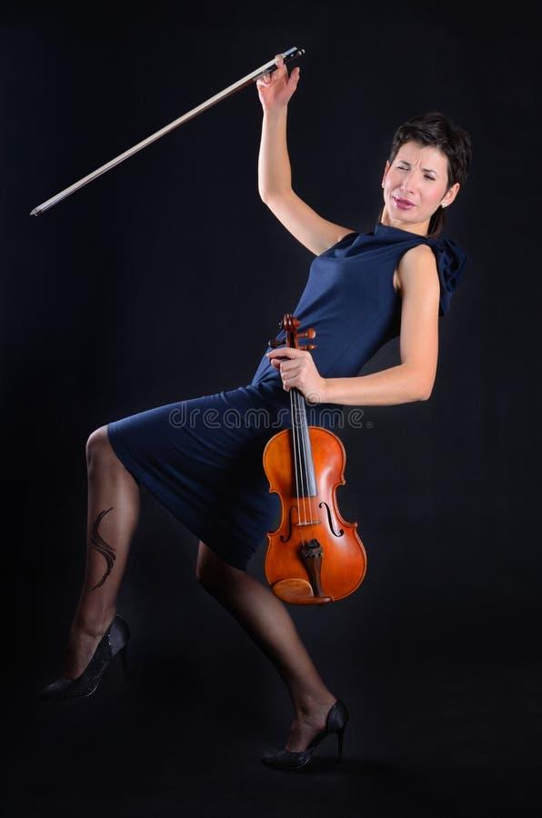Tanzen-Violinist lizenzfreie stockfotografie
