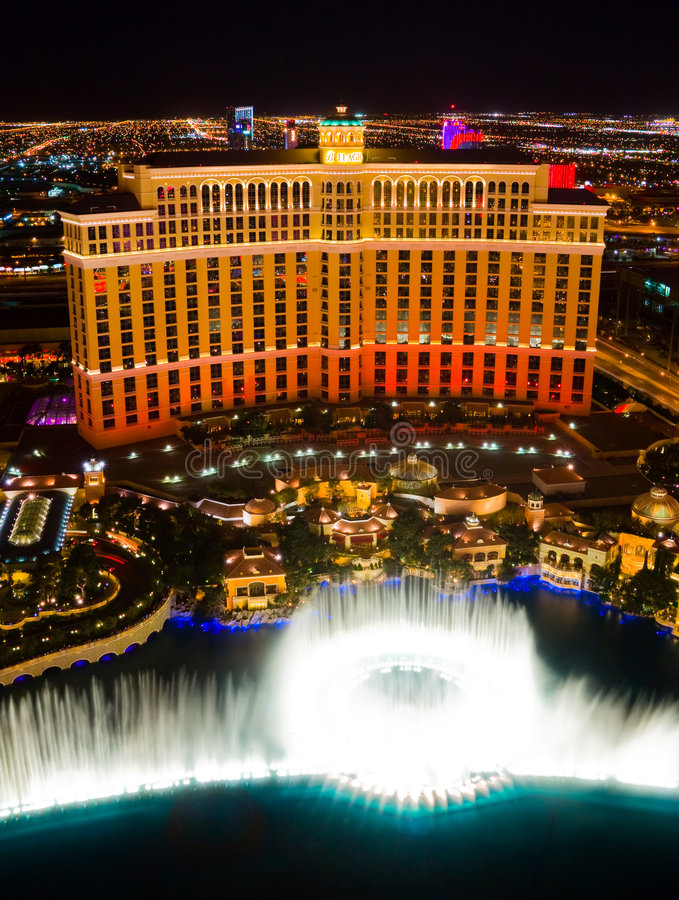 Tanzen-Wasser-Brunnen in Las Vegas stockbilder